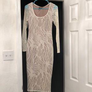 Slim fit midi dress